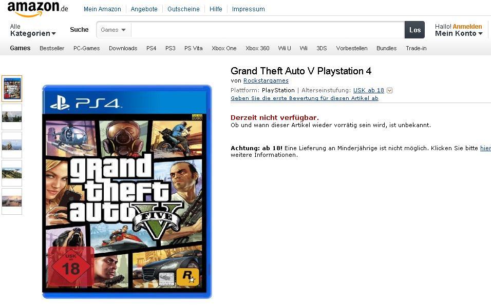 GTA V widziane w wersji na PlayStation 4 - obrazek 2