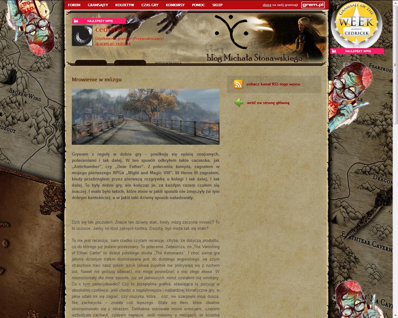 Co w gramsajtach piszczy #111 - O Ethanie Carterze, grach cRPG i filmie Miasto 44! - obrazek 2