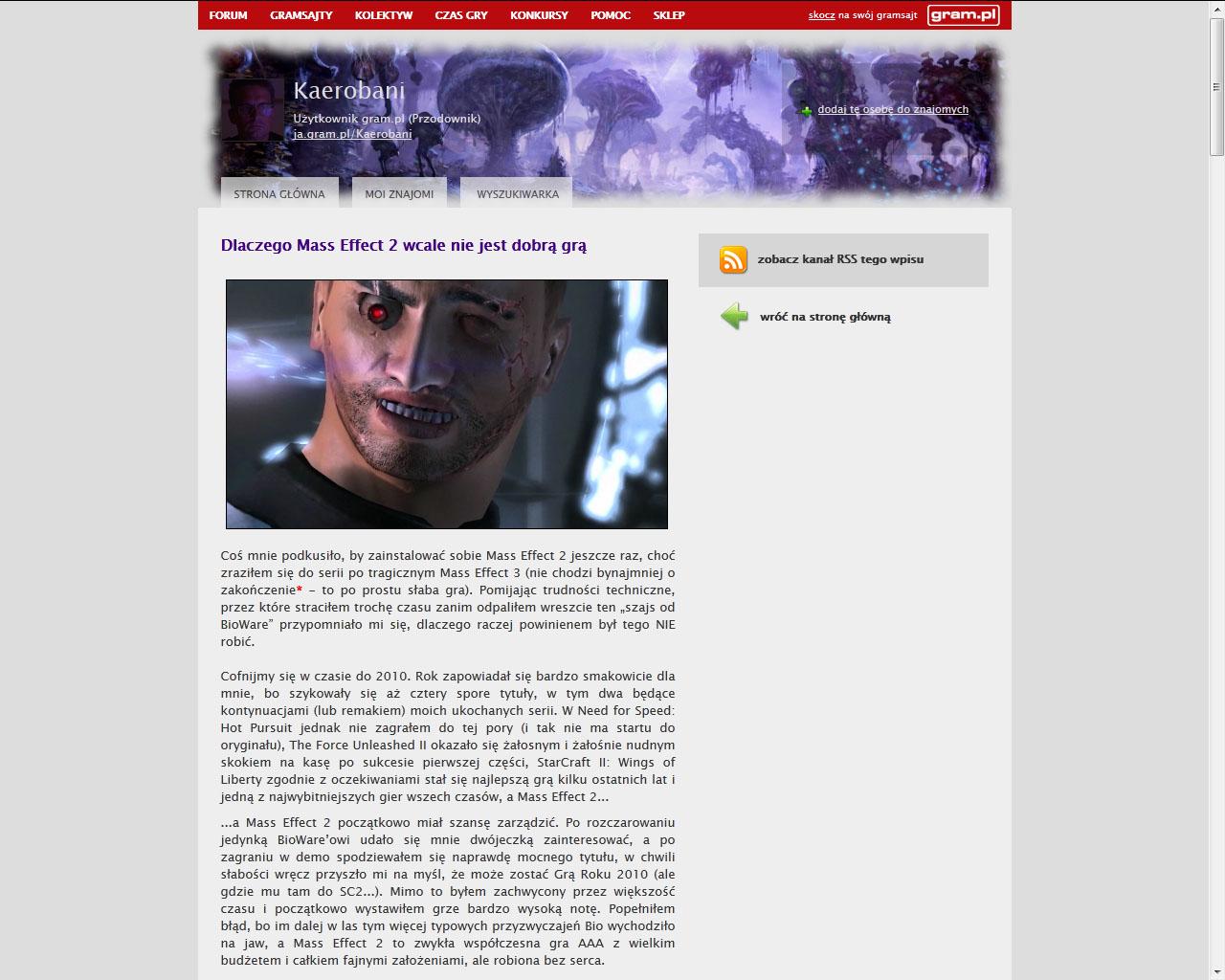Co w gramsajtach piszczy #123 - O Mass Effect 2, The Order: 1886 i DLC... - obrazek 2