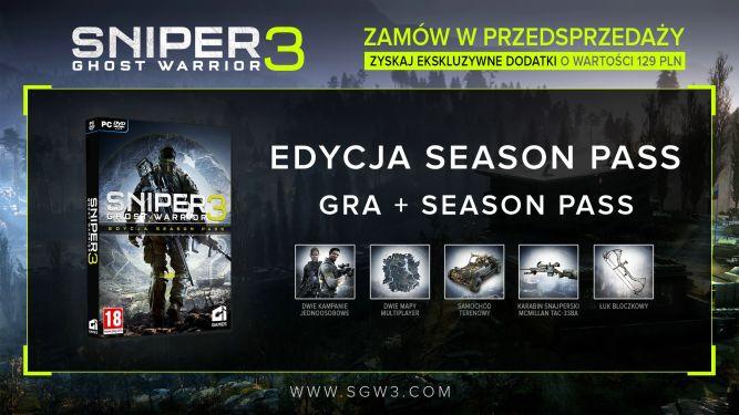 Sniper: Ghost Warrior 3 - zamów w przedsprzedaży i zdobądź Season Pass bez dodatkowych kosztów - obrazek 1