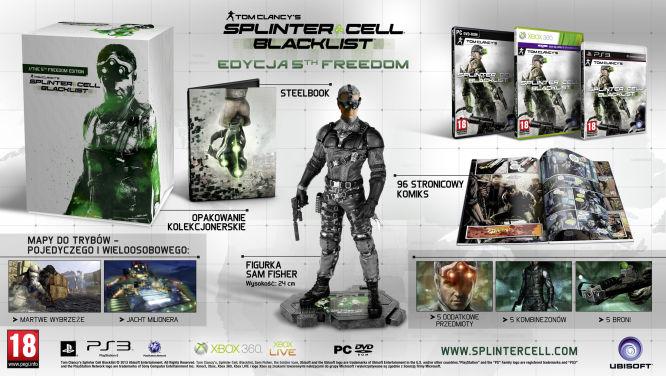 Znamy zawartość edycji kolekcjonerskich Splinter Cell: Blacklist - obrazek 1