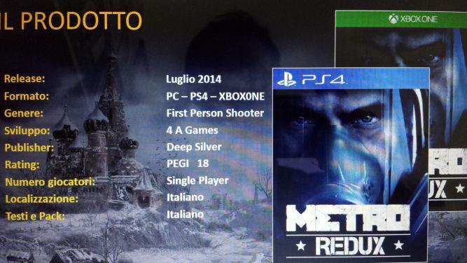 Plotka: Metro Redux zmierza na PS4, Xboksa One i PC - obrazek 1