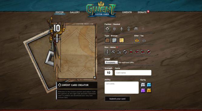 Dzięki fanowskiemu projektowi Custom Gwent stworzysz własne karty do Gwinta - obrazek 1