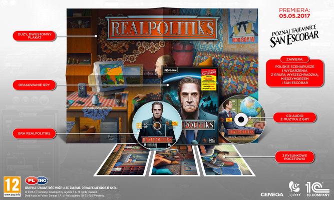 Pudełkowa wersja Realpolitiks ze specjalnymi, polskimi scenariuszami - w tym San Escobar - obrazek 1