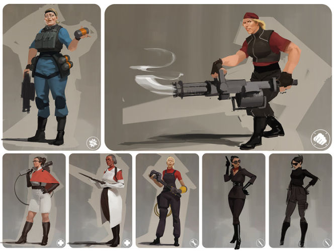 Team Fortress 2 - tak mogły wyglądać postacie kobiet w grze - obrazek 1